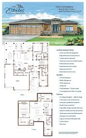 house plans with two master suites on main floor two level design crescent ridge ranch
