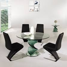 large glass dining room table perfect contemporary round dining room tables delightful large
