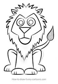 lion drawings sketching vector