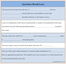 5 apartment lease template printable receipt