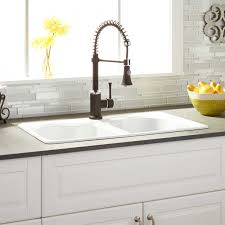 Kitchen Sinks Drop In Double Bowl by 32