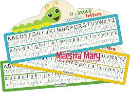 lettere straniere in corsivo maiuscolo e minuscolo il bruco cambia lettere maestra