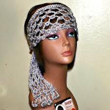 hippie headband gray hippie headband lace silver scarf hair band boho