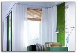 Cool L Shade Window Curtains Inspirating Of L Shaped Curtain Rod For Corner