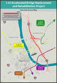 Interstate Map Interstate 24 Bridge Rehabilitation Tn Gov