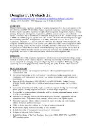 brief summary of background for resume doug droback resume 20160725