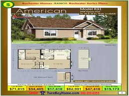 american rochester modular home model r31 ranch plan price
