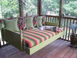 exterior comfortable terrace with porch swing bed plans emerson