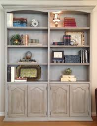 15 ideas of painted wood bookcase
