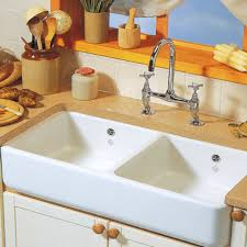 Shaws Classic  Double Ceramic Sink Kitchen Sinks  Taps - Double ceramic kitchen sink