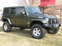 2007 green jeep wrangler aev expedition jk jeep green 4dr sold