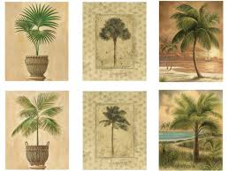 palm reader halloween background amazon com 6 tropical palm tree art prints beachy feel home decor