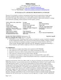 Sample Resume For Medical Technologist by Quality Control Resume Sample Resume For Your Job Application