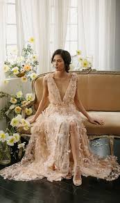 brown wedding dresses the wedding dress designer cool brides whowhatwear