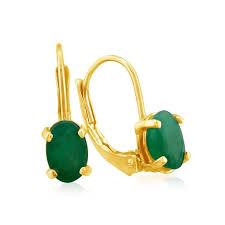 emerald drop emerald earrings may birthstone 1 1 4ct oval emerald drop