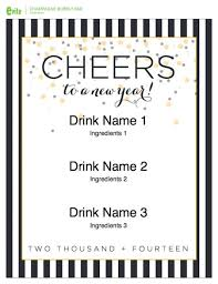 drink menu template free new year menu template free merry happy new year