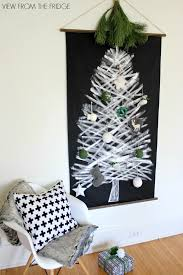 White Christmas Tree With Black Decorations White And Black Christmas Tree Wall Hanging View From The