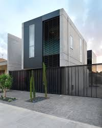 grey exterior wall design that can be decor with white modern