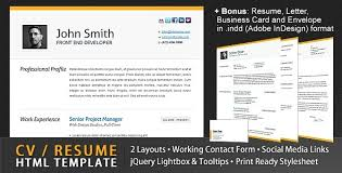 Resume Html Template 55 Best Online Resume Templates Tutorial Zone