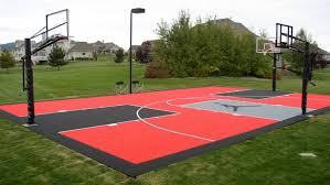 Backyard Basketball Court Perfect Ideas How Much Does A Sport Court Cost Charming Best