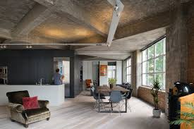 modern loft in disguising its former warehouse perform