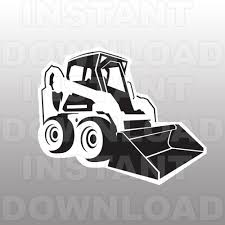 bobcat bulldozer svg file cutting template clip art for