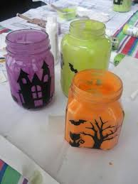 halloween mason jar crafts painted halloween jar candles