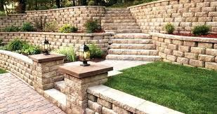 Retaining Garden Walls Ideas Landscaping Walls Ideas Retaining Garden Wall Ideas Chic Brick