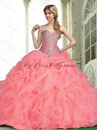 2015 quinceanera dresses 2015 quinceanera dresses with beading in watermelon