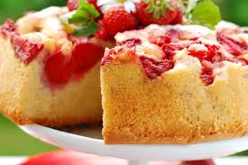 Fresh Strawberry Upside Down Cake Kitchme