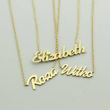 personalized script necklace handmade personalized custom script name necklace women best