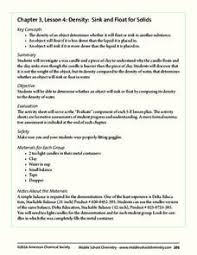 mass volume density lesson plans u0026 worksheets reviewed by teachers