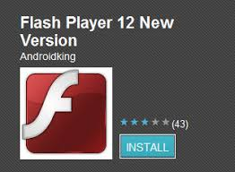 flash player android flash player 12 hits android market trending section