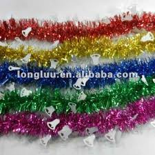 decoration shiny tinsel garland wire tinsel