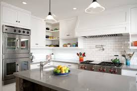 classic kitchen backsplash a white classic kitchen island decorated with a subway tile