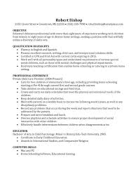 basic resumes exles sle resume with nanny experience new basic nanny resume exle