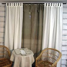 Tie Top Curtains Items Similar To Linen Curtain Panel Sheer Grey Tie Top 52 X 84