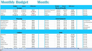 Home Budget Excel Template Sle Household Budget Free Printable Monthly Budget Free