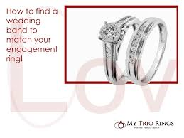 how to find a wedding band my trio rings matching wedding rings