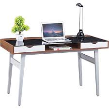 Rattan Computer Desk Genuine Piranha Sabalo Retro Glass Topped Desk With Drawe Https