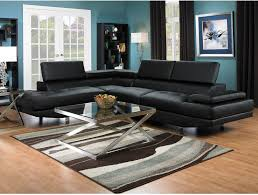 Black Leather Living Room Set Furniture Chic Cheap Sectional Sofas Under 400 For Living Room