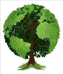 tree with globe vector vector plant free