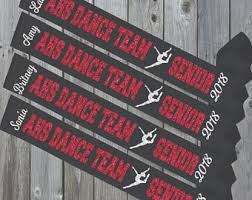 black sash senior sash etsy