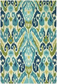 Indoor Outdoor Area Rugs Mistana Charlot Hand Woven Green Blue Indoor Outdoor Area Rug