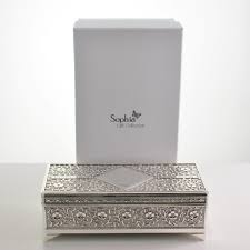personalised jewelry box silver antique personalised jewellery box with free gift box