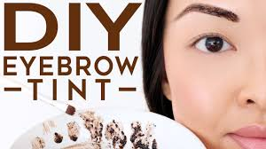 how to tint your eyebrows at home naturally diy recipe youtube