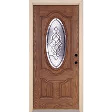 feather river doors 37 5 in x 81 625 in lakewood zinc 3 4 oval
