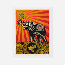 262 shepard fairey peace elephant u003c prints multiples 23 june