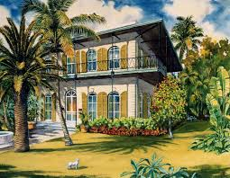 Hemingway House Key West Hemingway Houses In Key West Art By George K Salhofer
