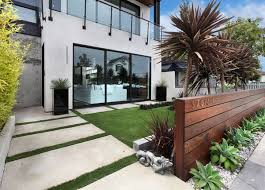 modern wood add privacy and to your modern home with a wood fence